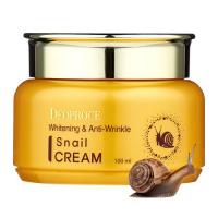 "Deoproce ""Whitening & Anti-Wrinkle Snail Cream"""