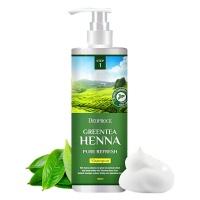"Deoproce ""Green Tea Henna Pure Refresh Shampoo"" 1000ml"