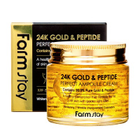 """FarmStay """"24K Gold & Peptide Perfect Ampoule Cream"""""""