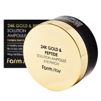"FarmStay ""24K Gold & Peptide Solution Ampoule Eye Patch"""
