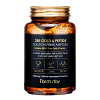 "FarmStay ""24K Gold & Peptide Solution Prime Ampoule"" 250ml"