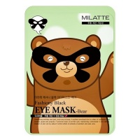 "Milatte ""Fashiony Black Eye Mask Bear"""