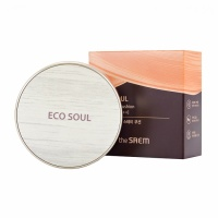 "The Saem ""Eco Soul Cover Stay Cushion 02 Natural Beige"""