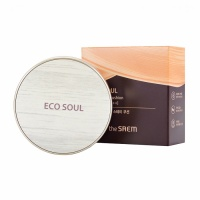 "The Saem ""Eco Soul Cover Stay Cushion 01 Light Beige"""
