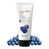 "Tony Moly ""Clean Dew Blueberry Foam Cleanser"""