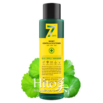"May Island ""7 Days Secret Centella Cica Toner AHA/BHA/PHA"""