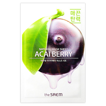 "The Saem ""Natural Acai Berry Mask Sheet"""