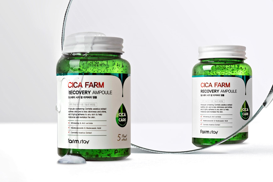 FARMSTAY Cica Farm Recovery Ampoule Ампульная сыворотка для лица с ...