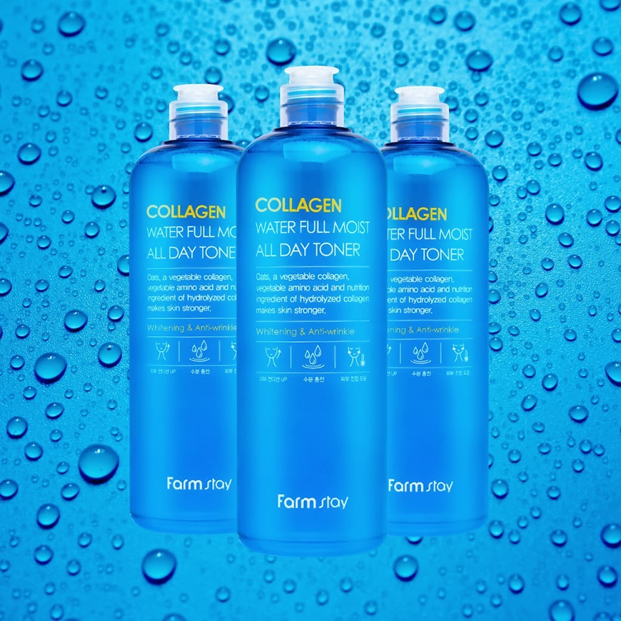 FarmStay Collagen Water Full Moist All Day Toner 500ml