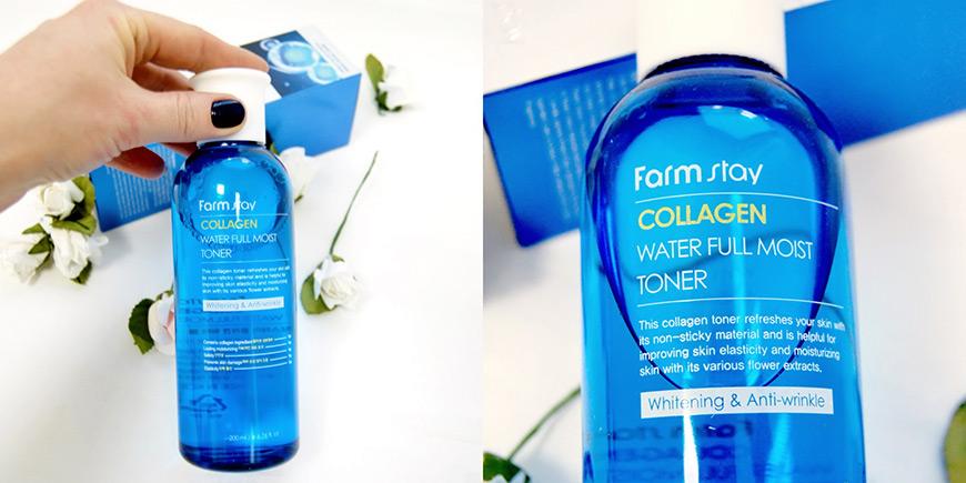 "Картинки по запросу ""Farm Stay Collagen Water Full Moist Toner"""