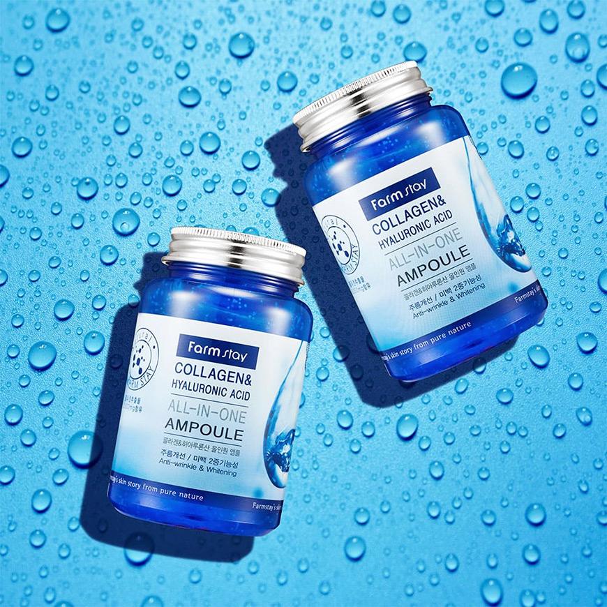 FarmStay Collagen & Hyaluronic Acid All-In-One Ampoule